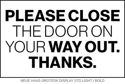 close door way out font pairing